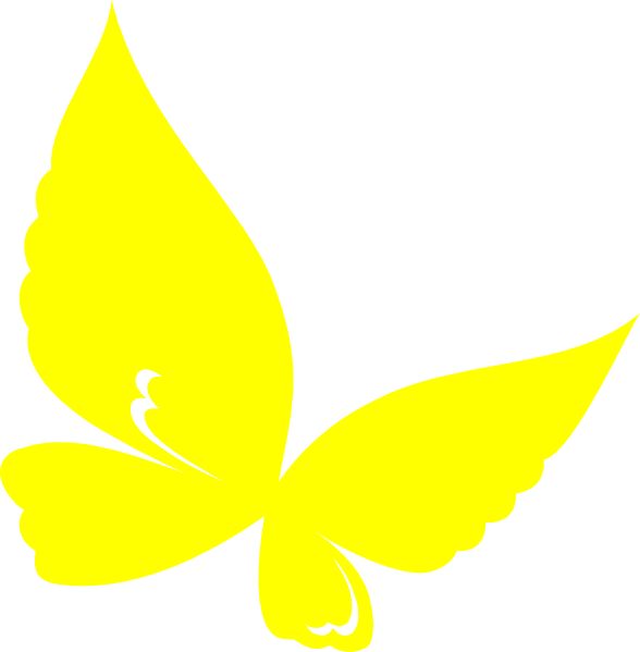 Yellow Butterfly Clipart.