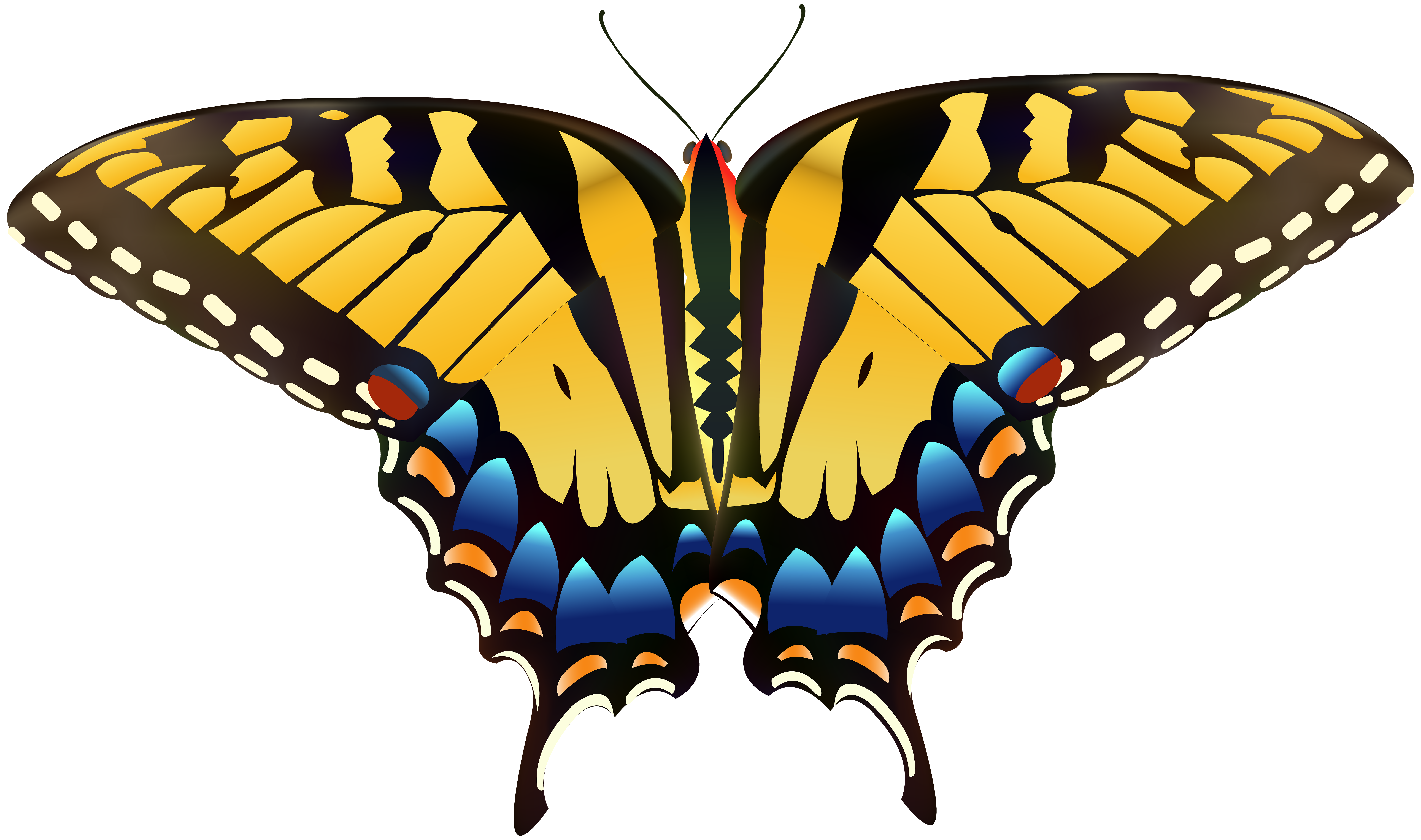 Yellow Butterfly PNG Clip Art.