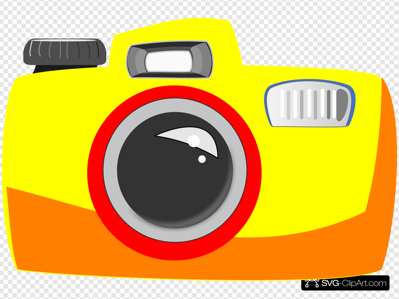 Simple Camera Clip art, Icon and SVG.