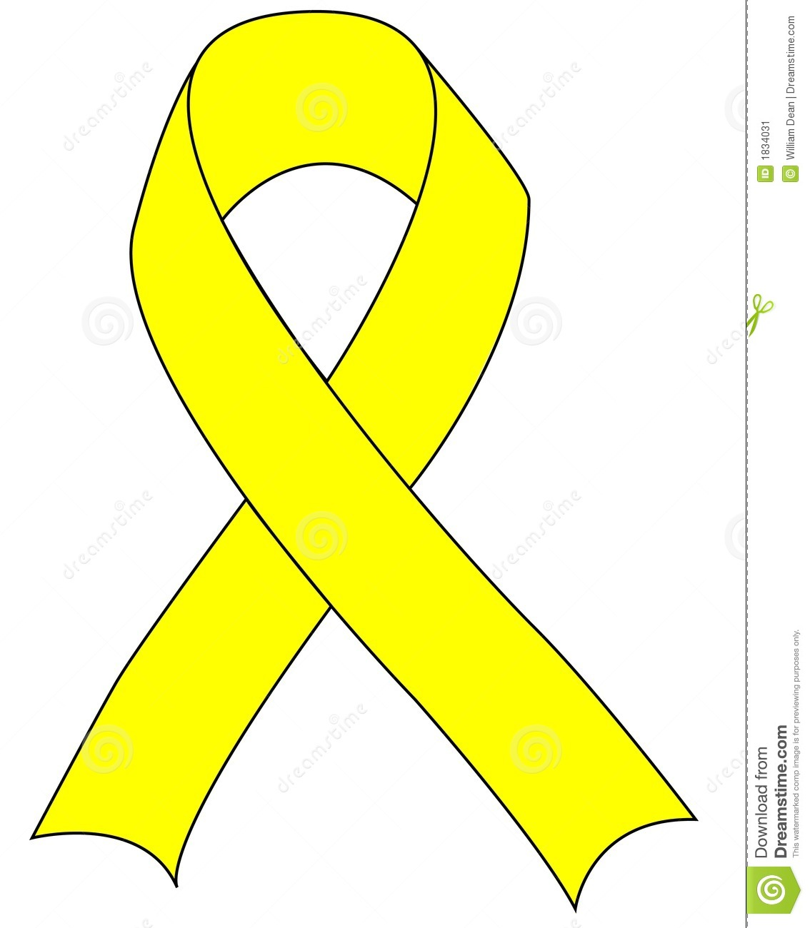 Yellow Support Troops Ribbon Stock Illustrations.