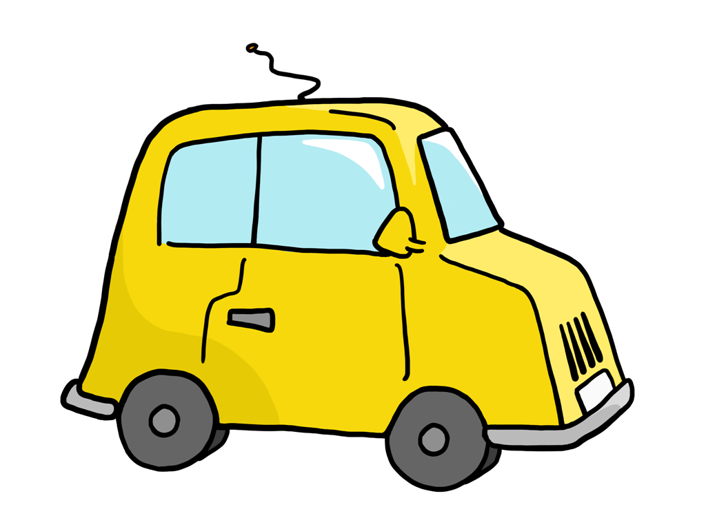 Yellow car clipart free.
