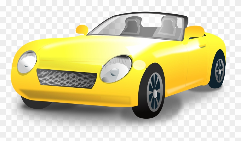 Yellow Convertible Sports Car Png Freeuse Library.