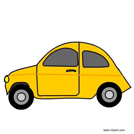 Yellow car clipart 2 » Clipart Station.