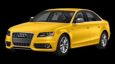Yellow AUDI PNG car image.