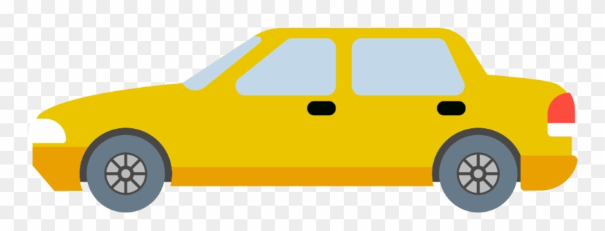 Cartoon Car Png Yellow Color Transpa Background Image.