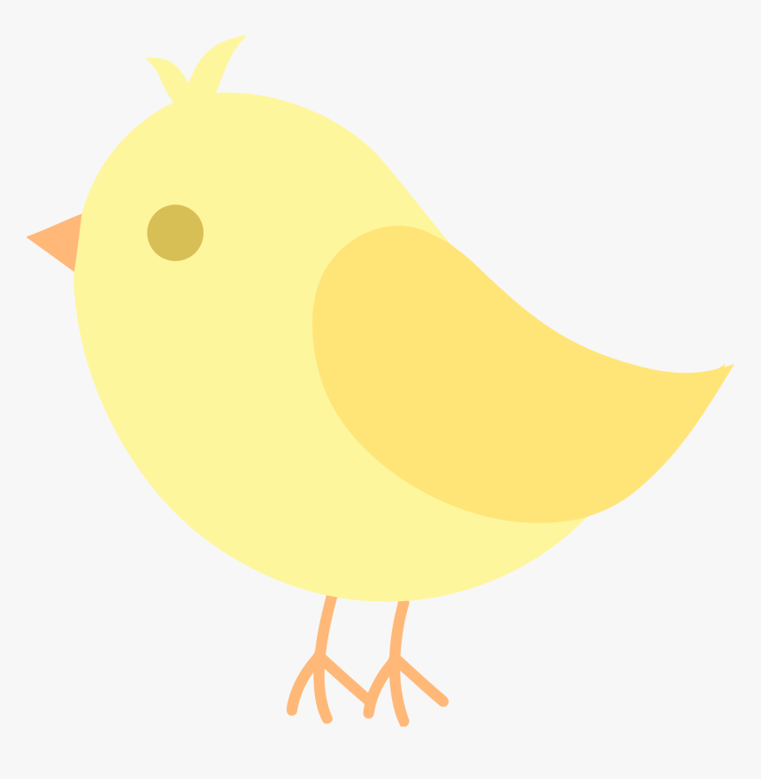 Yellow Cute Bird Clipart, HD Png Download , Transparent Png.