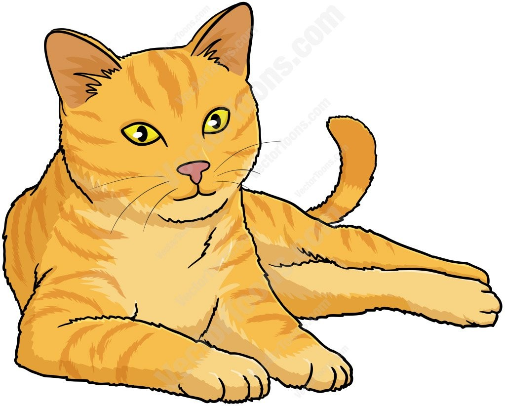 For Yellow Cat Clipart Vector Toons Animals 068.