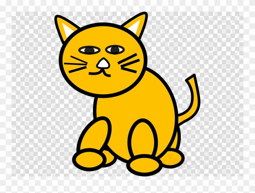 Yellow Cat Clipart Cat Kitten Clip Art.