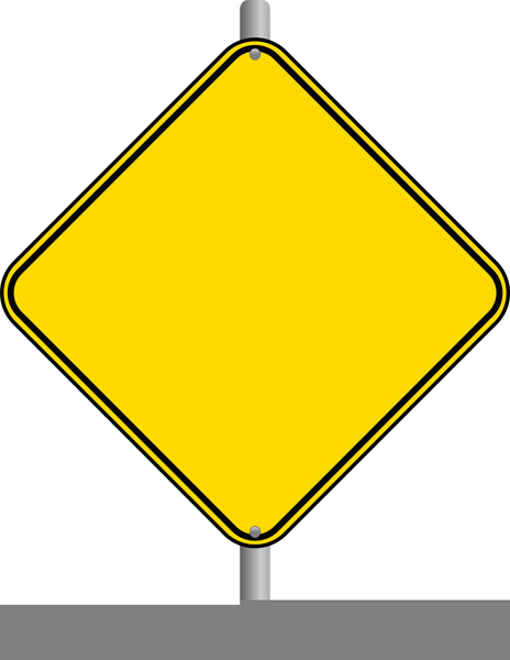Blank Caution Sign Clipart.