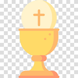 Yellow Chalice and Host illustration, Computer Icons.