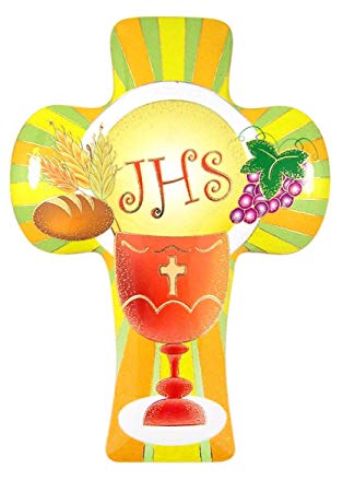 Amazon.com: First Holy Communion IHS Chalice Hanging Wall.