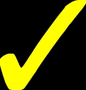 Transparent Yellow Checkmark Clip Art at Clker.com.