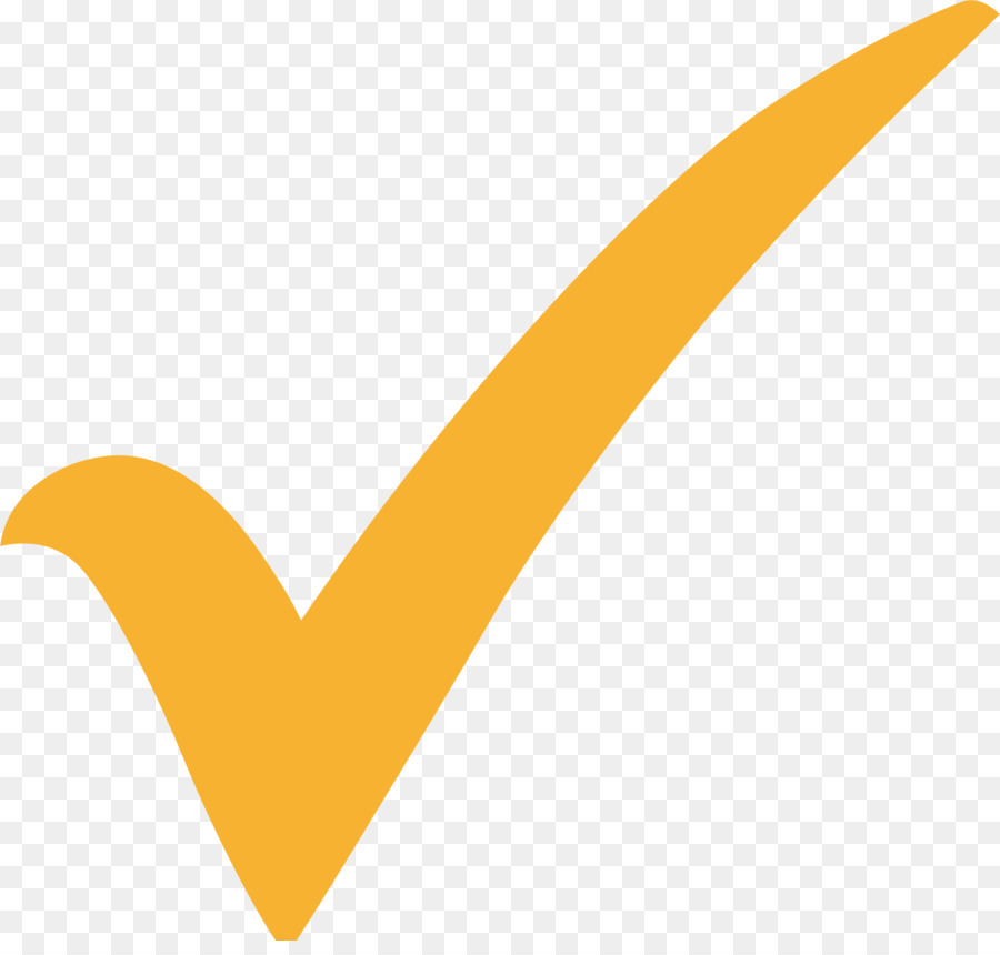 Yellow Check Mark png download.