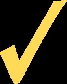 Yellow Check Mark Clip Art at Clker.com.