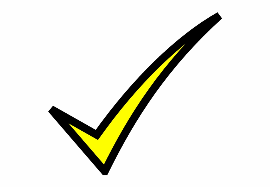 Yellow Check Mark Clip Art, Transparent Png Download For Free.