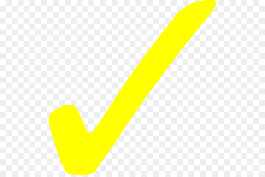 Yellow Check Marktransparent png image & clipart free download.