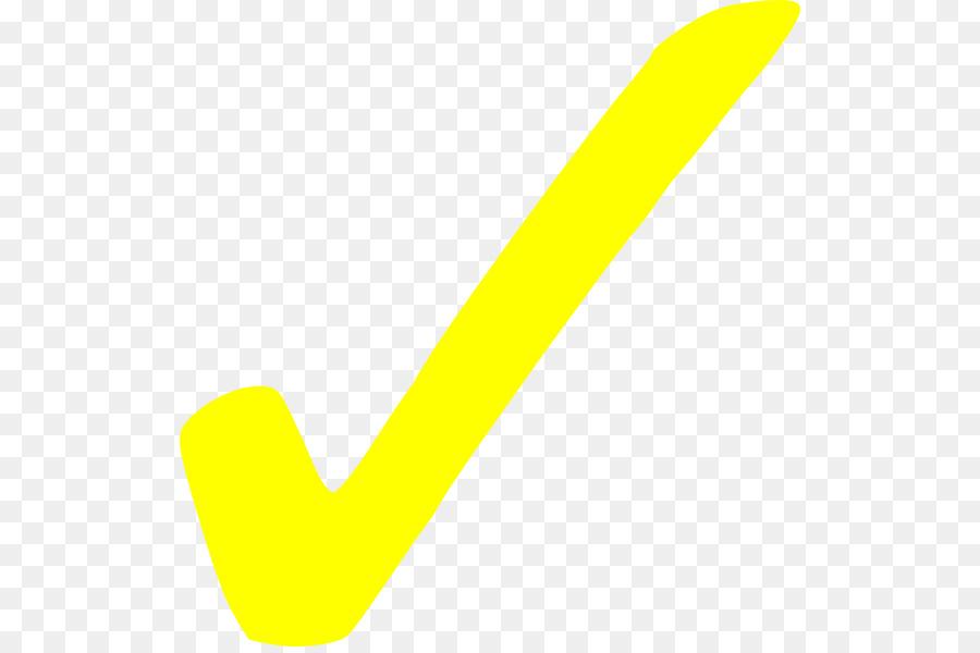 Yellow Check Mark clipart.