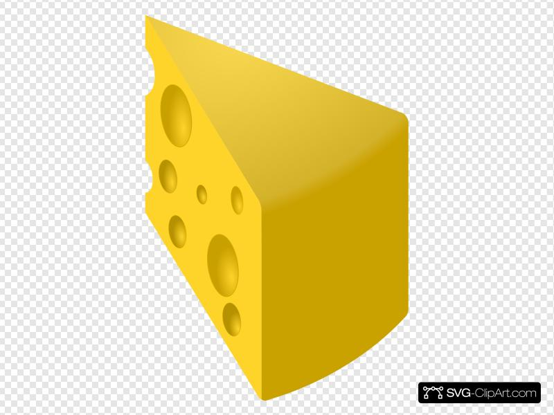 Yellow Swiss Cheese Slice Clip art, Icon and SVG.