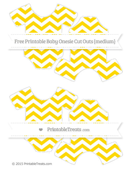 Free Gold Chevron Medium Baby Onesie Cut Outs — Printable.