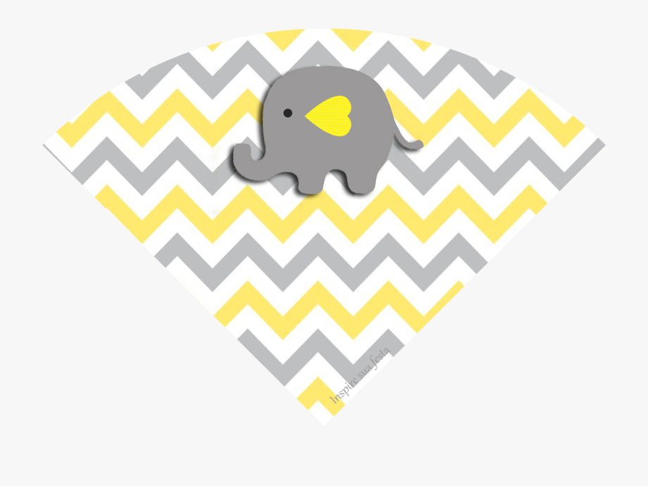 Baby Elephant In Grey And Yellow Chevron Free Printable.