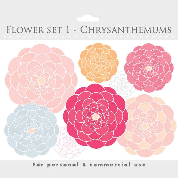 Chrysanthemum Clip Art.