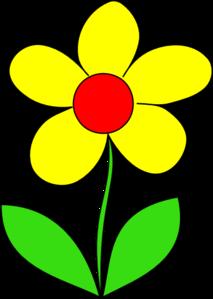 Yellow Flower Clip Art.