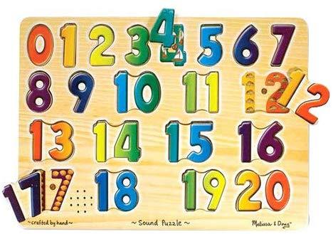 Melissa & Doug Numbers Sound Puzzle: Amazon.com.