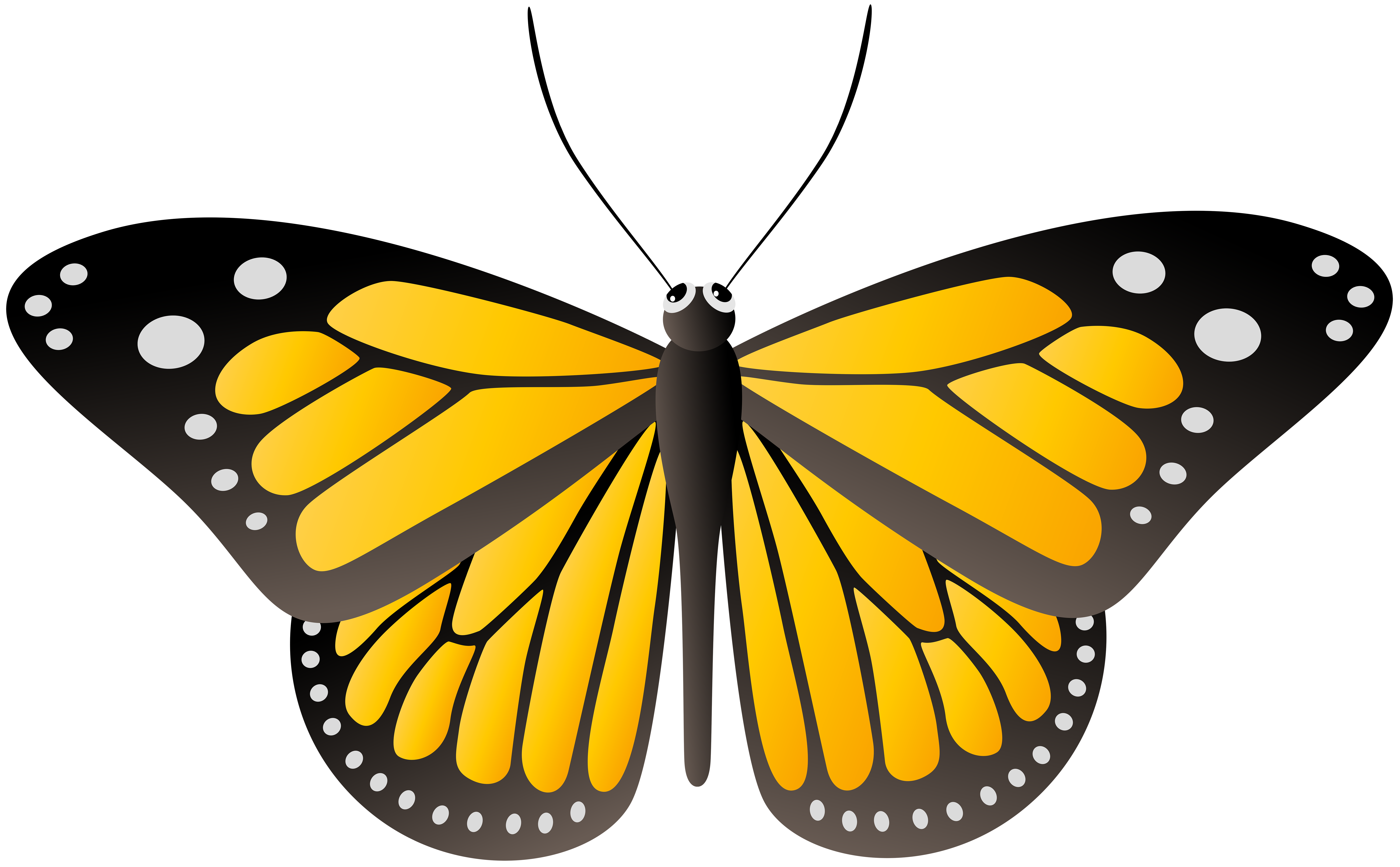 Butterfly Yellow PNG Clip Art Image.