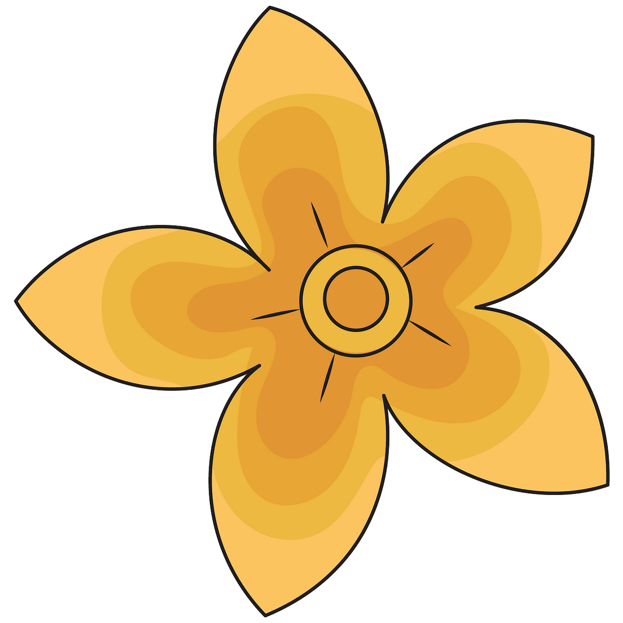 Yellow flower clipart. Free download..