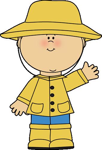 Raincoat For Kids Clipart.