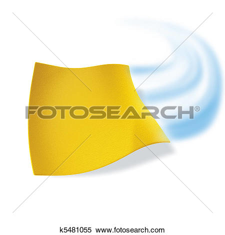 Stock Illustration of yellow cloth cleaning k5481055.