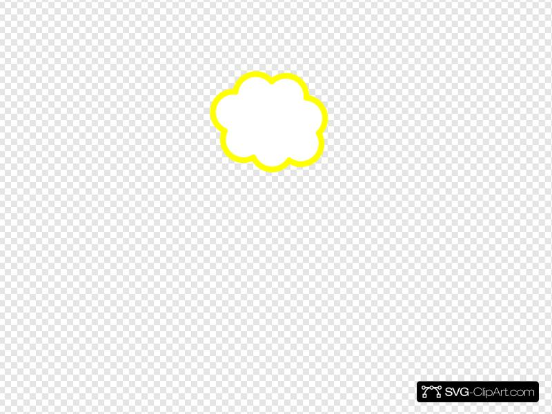 Yellow Cloud Clip art, Icon and SVG.