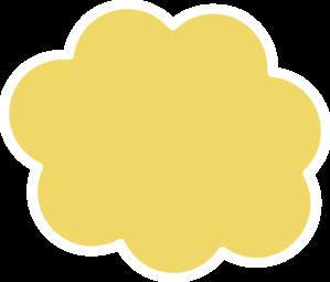 Yellow Cloud 3 Clip Art at Clker.com.