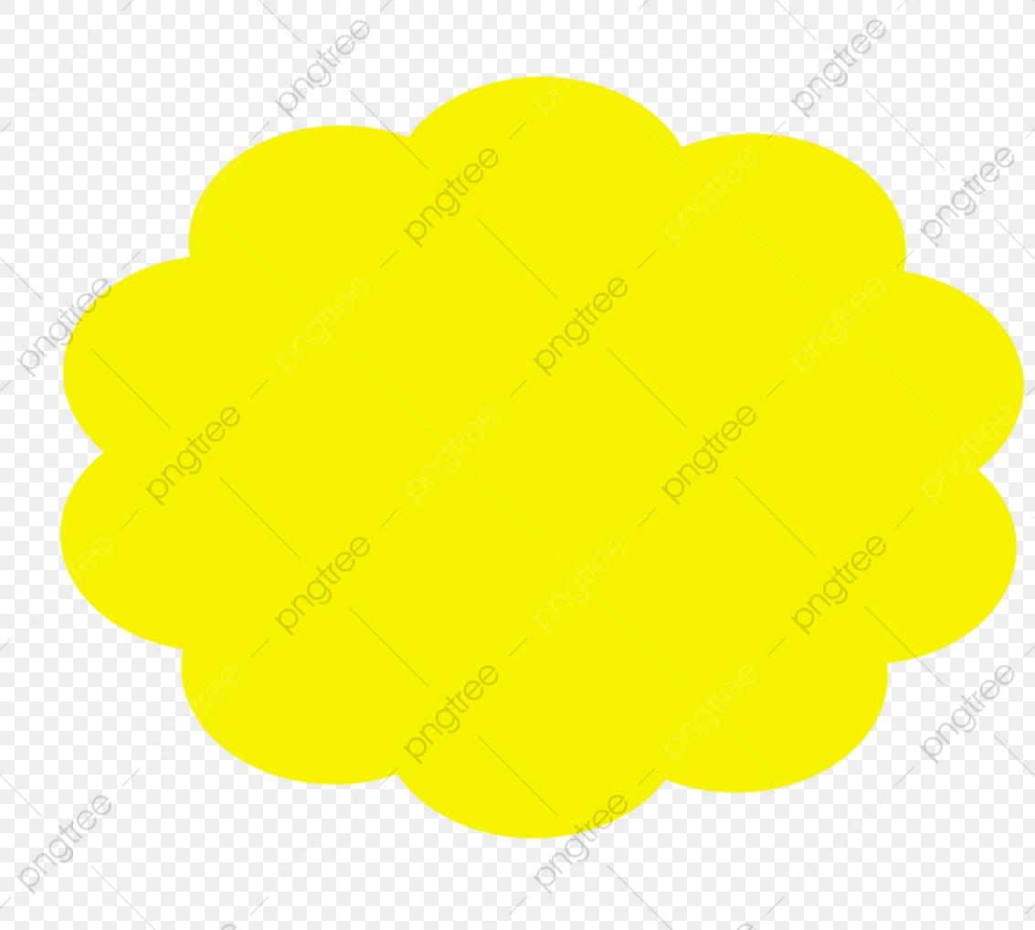 Yellow Clouds, Dialog, Cloud, Free Stock Png PNG Transparent Image.