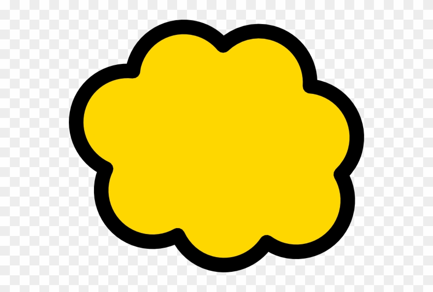 Yellow Cloud Vector Png Clipart (#191189).