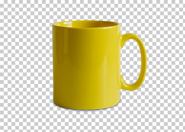Mug Coffee cup Yellow Tableware Ceramic, mug coffee PNG.