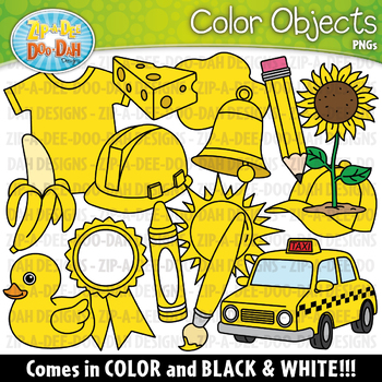 Yellow Color Objects Clipart {Zip.