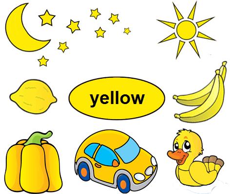 Color Yellow Worksheets for Kindergarten.