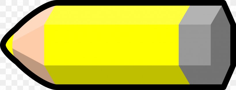 Colored Pencil Yellow Clip Art, PNG, 2400x922px, Pencil.