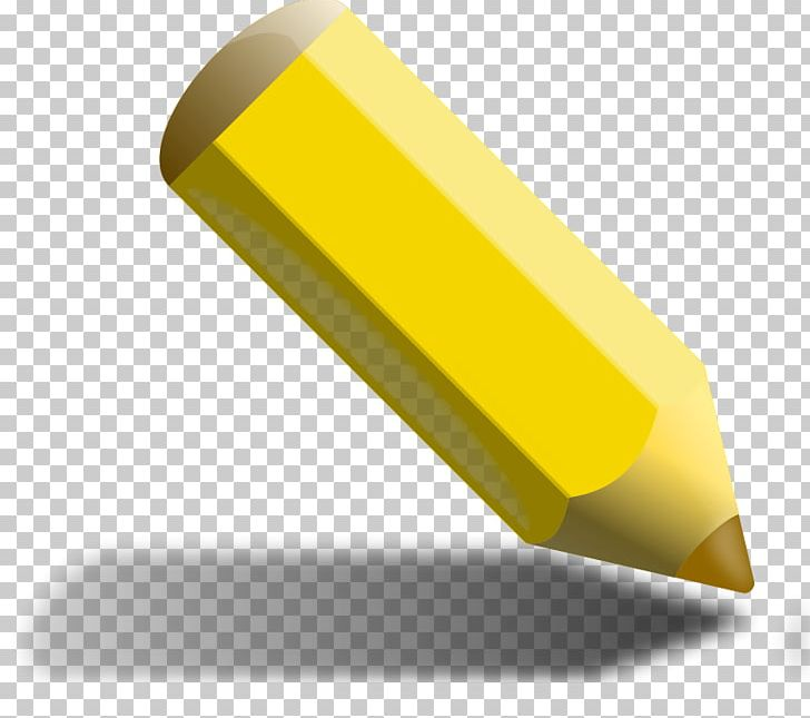 Colored Pencil Yellow PNG, Clipart, Angle, Color, Colored.