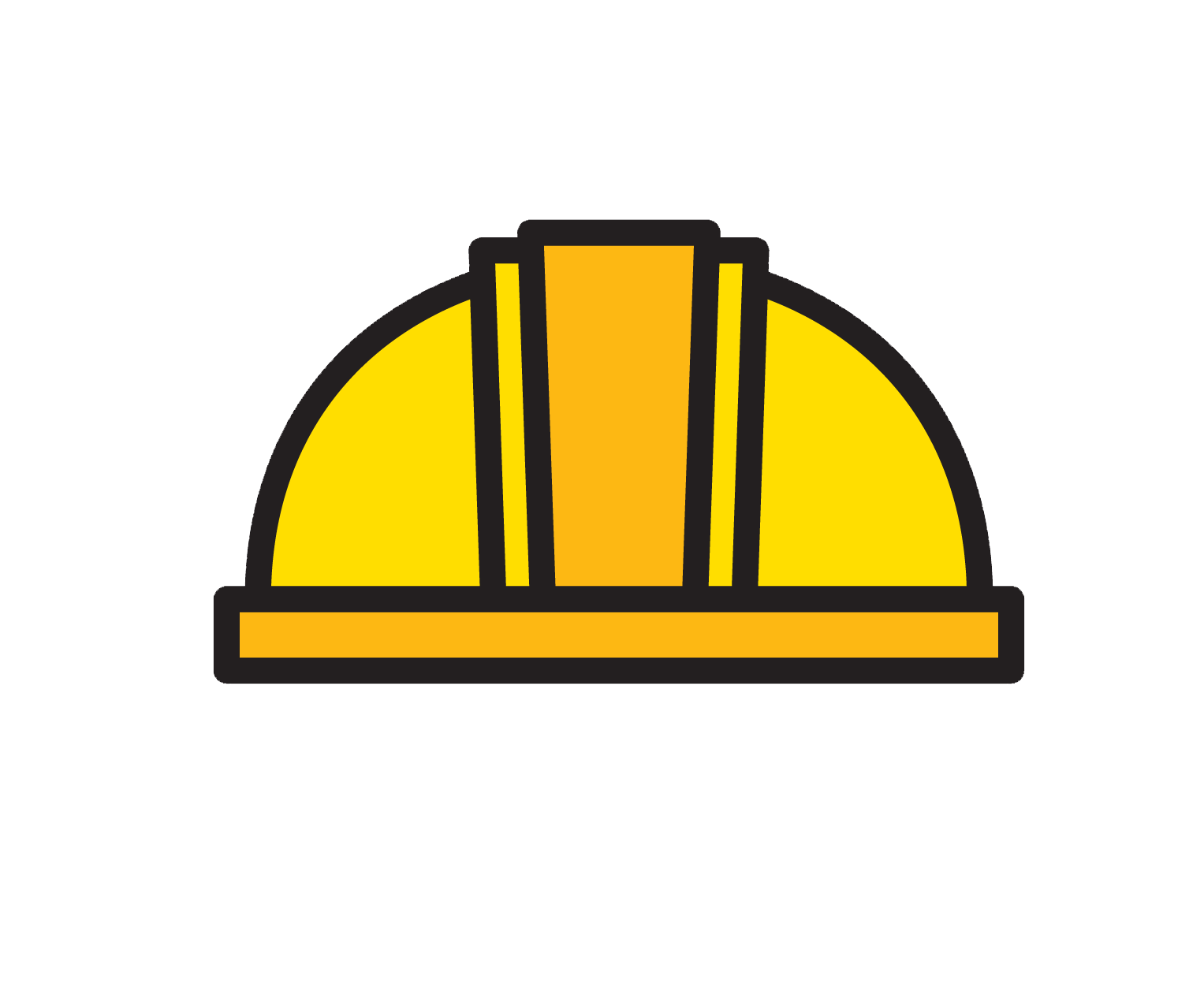 Hard hat Yellow Architectural engineering Icon.