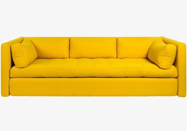 Sofa, Yellow Sofa, Leather Sofa PNG Transparent Image and.