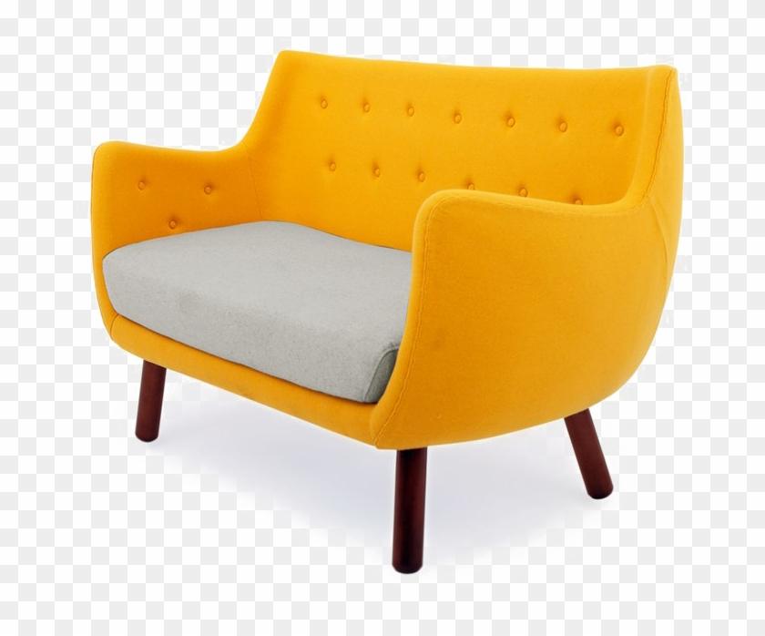 Yellow Sofa Png File.