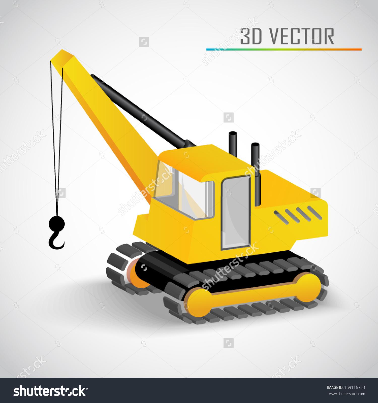 Crane 3d Vector.