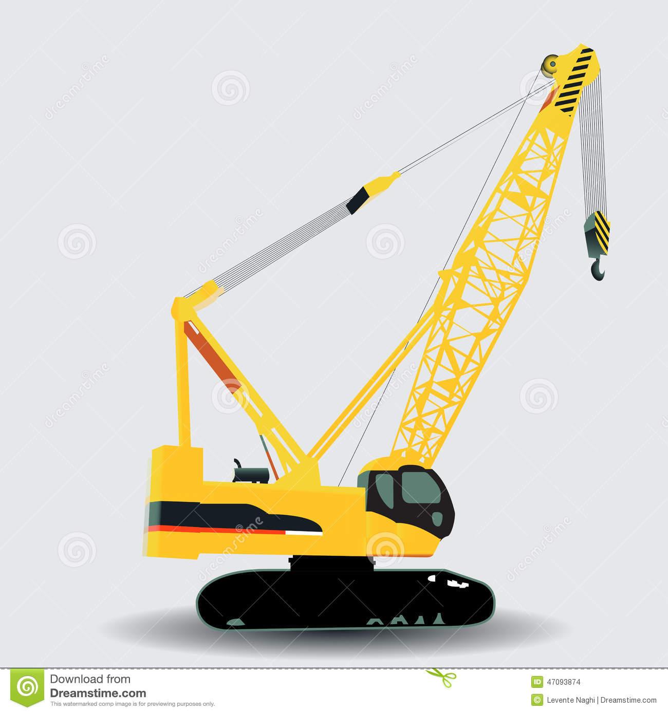 Showing post & media for Crawler crane clip art cartoon.