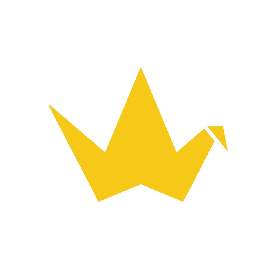 Yellow Cranes Clipart