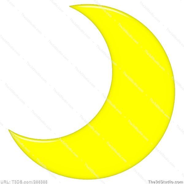 crescent moon clipart free.