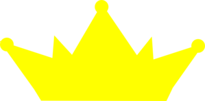 Yellow Crown No Outline Clip Art at Clker.com.