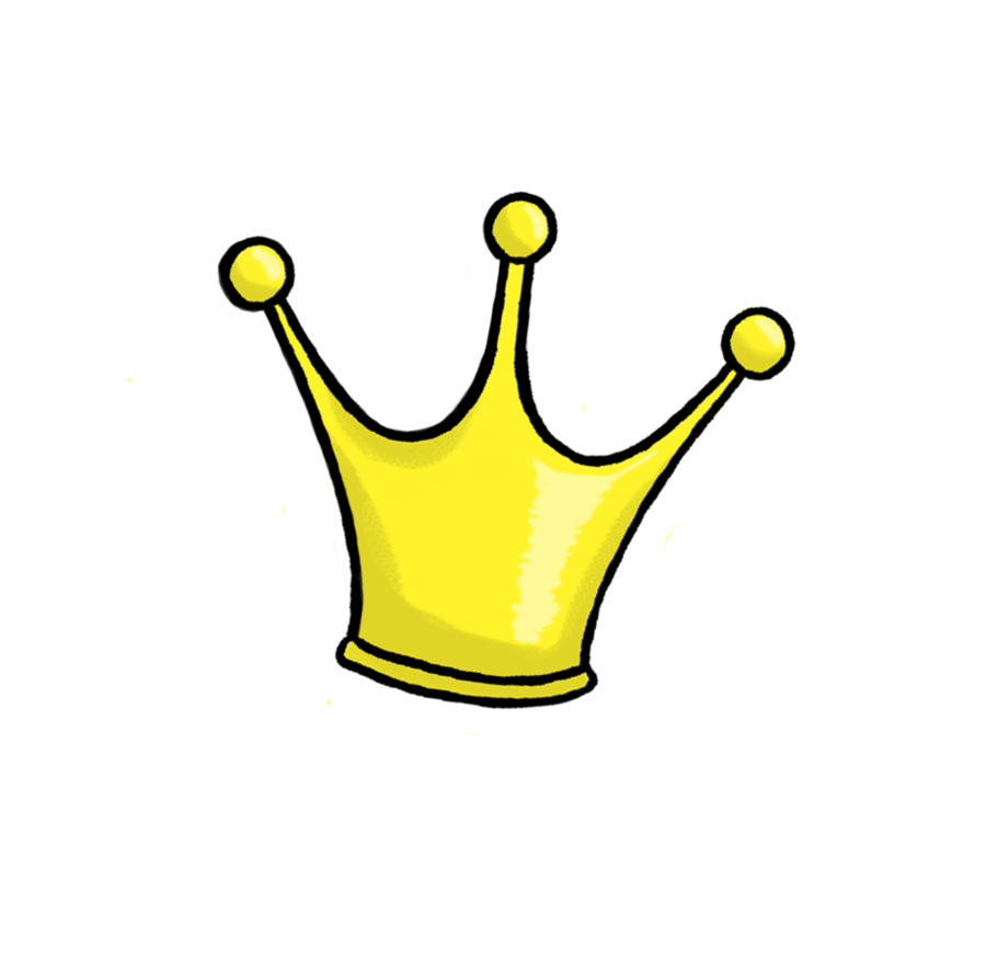 Simple crown clipart png.