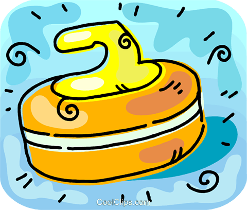 curling rock Royalty Free Vector Clip Art illustration.